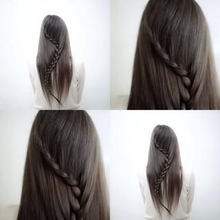 ショート ロング アッシュ ナチュラル ヘアスタイルや髪型の写真・画像