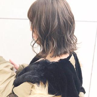 パーマ アンニュイほつれヘア ボブ ヘアアレンジ ヘアスタイルや髪型の写真・画像