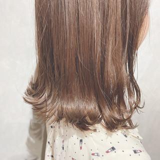 ナチュラル ミニボブ セミロング 韓国ヘア ヘアスタイルや髪型の写真・画像