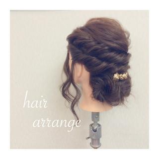 ヘアアレンジ フェミニン 大人かわいい 簡単ヘアアレンジ ヘアスタイルや髪型の写真・画像
