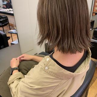 アンニュイほつれヘア ゆるふわ デート ボブ ヘアスタイルや髪型の写真・画像