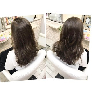 透明感 マット 秋 ナチュラル ヘアスタイルや髪型の写真・画像 ヘアスタイルや髪型の写真・画像