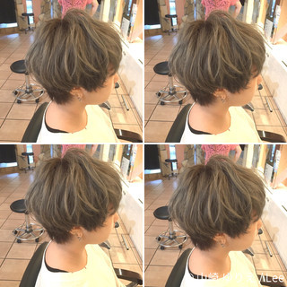 マッシュ 外国人風 アッシュ ハイトーン ヘアスタイルや髪型の写真・画像