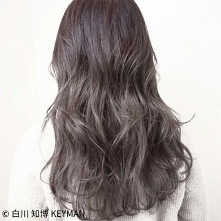 ストリート 大人女子 冬 セミロング ヘアスタイルや髪型の写真・画像
