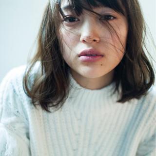 外国人風カラー 冬 大人かわいい イルミナカラー ヘアスタイルや髪型の写真・画像