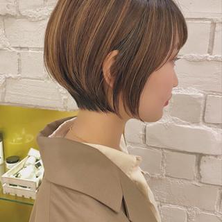 デート ショートボブ 大人かわいい ショートヘア ヘアスタイルや髪型の写真・画像