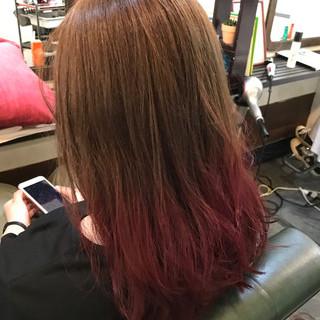 グラデーションカラー アッシュベージュ ナチュラル ロブ ヘアスタイルや髪型の写真・画像