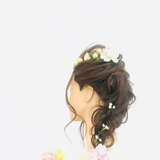エレガント ヘアアレンジ 簡単ヘアアレンジ 結婚式 ヘアスタイルや髪型の写真・画像