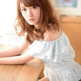 愛され セミロング 渋谷系 ストリート ヘアスタイルや髪型の写真・画像
