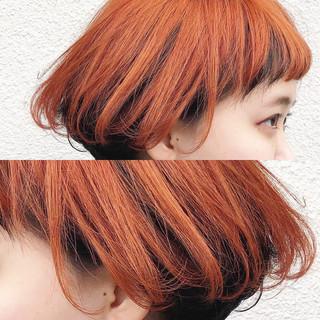 ショートボブ ストリート ダブルカラー 外国人風カラー ヘアスタイルや髪型の写真・画像 ヘアスタイルや髪型の写真・画像