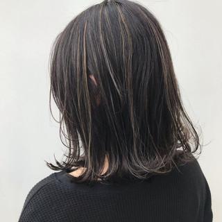 ボブ 大人かわいい ハイライト 女子力 ヘアスタイルや髪型の写真・画像