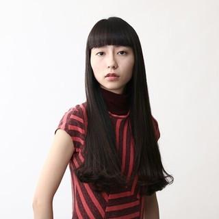 ワンカール 暗髪 モード ロング ヘアスタイルや髪型の写真・画像