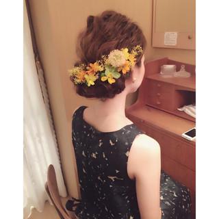 ヘアアレンジ ショート ミディアム 大人かわいい ヘアスタイルや髪型の写真・画像