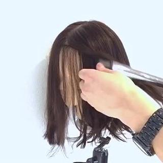 ナチュラル ボブ アウトドア 大人女子 ヘアスタイルや髪型の写真・画像