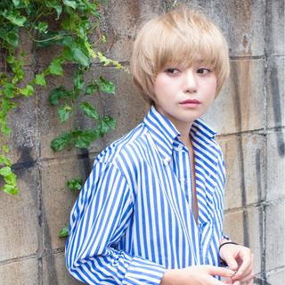 ショート モテ髪 ナチュラル 30代 ヘアスタイルや髪型の写真・画像