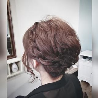 結婚式 エレガント セミロング ショートボブ ヘアスタイルや髪型の写真・画像