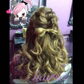 モテ髪 編み込み ロング 愛され ヘアスタイルや髪型の写真・画像 ヘアスタイルや髪型の写真・画像