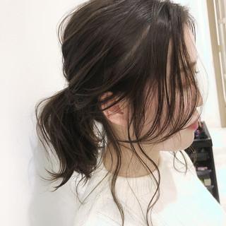 ローポニーテール 簡単ヘアアレンジ ポニーテールアレンジ ナチュラル ヘアスタイルや髪型の写真・画像 ヘアスタイルや髪型の写真・画像
