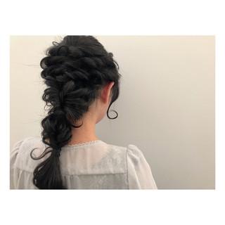 ロング 簡単ヘアアレンジ ショート パーティ ヘアスタイルや髪型の写真・画像 ヘアスタイルや髪型の写真・画像