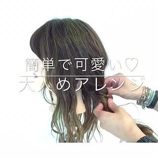 簡単ヘアアレンジ デート ロング 女子会 ヘアスタイルや髪型の写真・画像