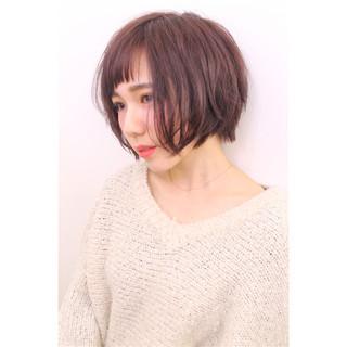 ガーリー ショート 春 フェミニン ヘアスタイルや髪型の写真・画像