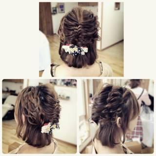 パーティ コンサバ ロープ編み ヘアアレンジ ヘアスタイルや髪型の写真・画像 ヘアスタイルや髪型の写真・画像
