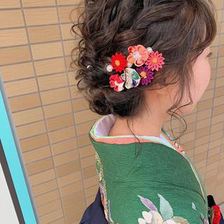 ヘアアレンジ ボブ 卒業式 成人式 ヘアスタイルや髪型の写真・画像