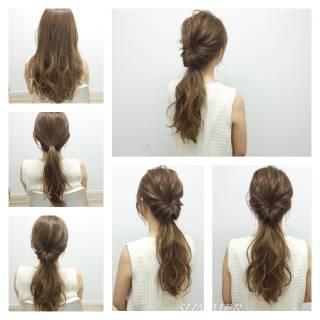 モテ髪 ヘアアレンジ 簡単ヘアアレンジ 愛され ヘアスタイルや髪型の写真・画像
