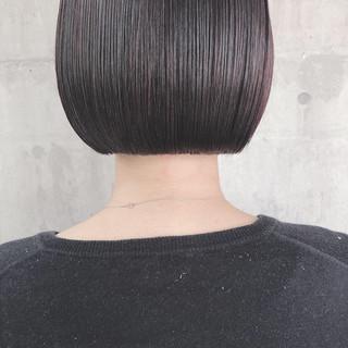 ナチュラル ミニボブ 切りっぱなしボブ 大人かわいい ヘアスタイルや髪型の写真・画像 ヘアスタイルや髪型の写真・画像