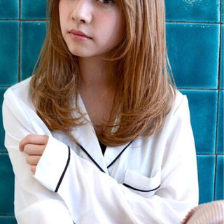 かわいい ゆるふわ セミロング モテ髪 ヘアスタイルや髪型の写真・画像