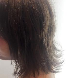 ボブ ハイライト ナチュラル 暗髪 ヘアスタイルや髪型の写真・画像