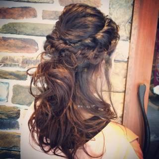 愛され ハーフアップ 結婚式 ヘアアレンジ ヘアスタイルや髪型の写真・画像