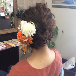 成人式 ナチュラル デート 結婚式 ヘアスタイルや髪型の写真・画像