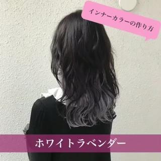 セミロング ダブルカラー ストリート 外国人風カラー ヘアスタイルや髪型の写真・画像