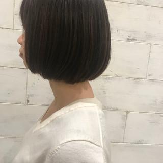 透明感 パーマ ボブ デート ヘアスタイルや髪型の写真・画像