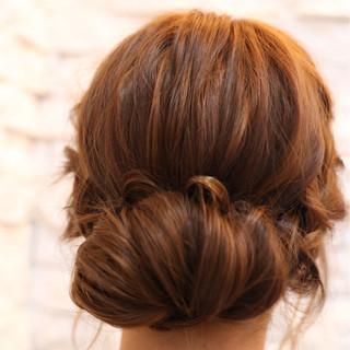 ヘアアレンジ ギブソンタック ショート 簡単ヘアアレンジ ヘアスタイルや髪型の写真・画像
