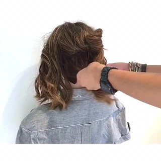 上品 ボブ ヘアアレンジ エレガント ヘアスタイルや髪型の写真・画像