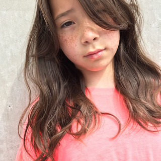ウェーブ ロング 外国人風カラー パーマ ヘアスタイルや髪型の写真・画像