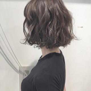 透明感 パーマ ナチュラル ボブ ヘアスタイルや髪型の写真・画像