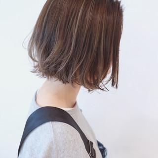 ナチュラルグラデーション ハイライト ボブ ストリート ヘアスタイルや髪型の写真・画像 ヘアスタイルや髪型の写真・画像