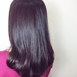 春 フェミニン ピンク セミロング ヘアスタイルや髪型の写真・画像