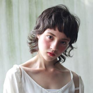 モード 前髪あり ショート 外国人風 ヘアスタイルや髪型の写真・画像