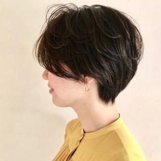 抜け感 ナチュラル アウトドア ショートボブ ヘアスタイルや髪型の写真・画像