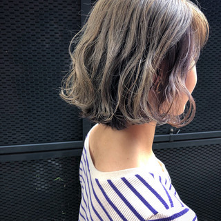アウトドア ガーリー ボブ スポーツ ヘアスタイルや髪型の写真・画像