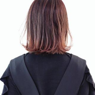 ナチュラル ゆるふわ グラデーションカラー ボブ ヘアスタイルや髪型の写真・画像