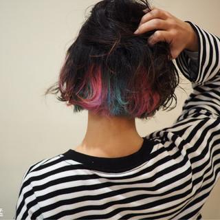 ストリート ボブ 外ハネ こなれ感 ヘアスタイルや髪型の写真・画像
