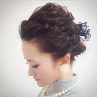 簡単ヘアアレンジ ショート コンサバ アップスタイル ヘアスタイルや髪型の写真・画像 ヘアスタイルや髪型の写真・画像