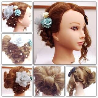 甘め 大人かわいい ねじり 三つ編み ヘアスタイルや髪型の写真・画像 ヘアスタイルや髪型の写真・画像
