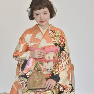 アップスタイル 成人式 ヘアアレンジ ガーリー ヘアスタイルや髪型の写真・画像