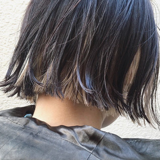 切りっぱなしボブ ショートボブ ミニボブ ウルフカット ヘアスタイルや髪型の写真・画像